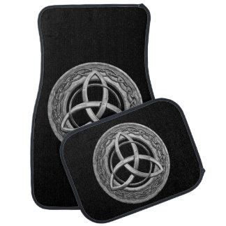 Metal Celtic Trinity Knot Car Mat
