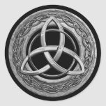 Metal Celtic Trinity Knot Classic Round Sticker