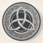 "Metal Celtic Trinity Knot Coaster<br><div class=""desc"">The Triquetra, or Celtic Trinity Knot, is a three cornered Celtic knot design with various meanings. Christians will see it as representing the Trinity of the Father, Son, and Holy Ghost or Spirit. The more ancient pagans would see it for the Mother, Crone, and Maiden. And the more metaphysical school...</div>"