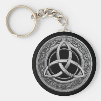 Metal Celtic Trinity Knot Basic Round Button Keychain