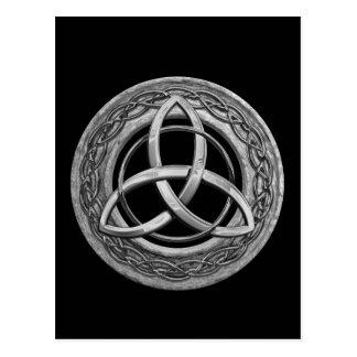 Metal Celtic Trinity Knot Postcard