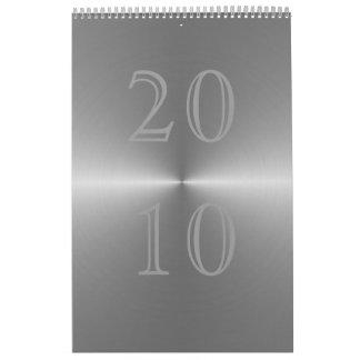 metal cepillado 2010 calendario de pared