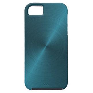 Metal cepillado azul fresco funda para iPhone SE/5/5s