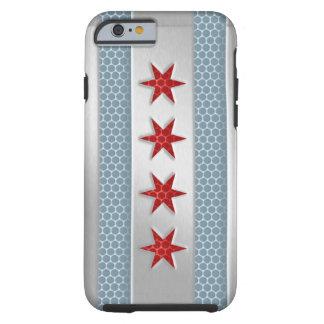 Metal cepillado bandera de Chicago Funda De iPhone 6 Tough