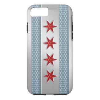 Metal cepillado bandera de Chicago Funda iPhone 7
