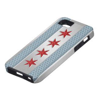 Metal cepillado bandera de Chicago Funda Para iPhone SE/5/5s