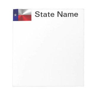Metal cepillado bandera de Tejas Bloc De Notas
