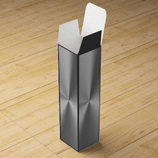 Metal cepillado cajas para vino
