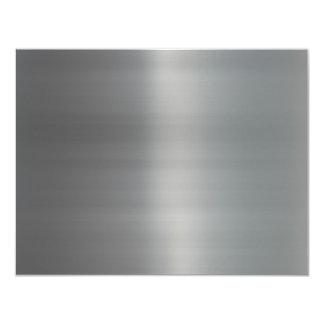 Metal cepillado con clase texturizado invitaciones personalizada