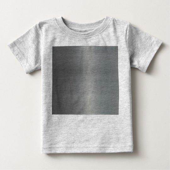 Metal cepillado con clase texturizado playera de bebé