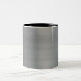 Metal cepillado con clase texturizado taza de dos tonos