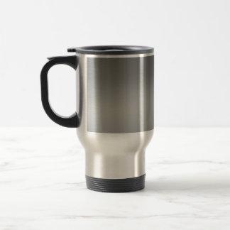 Metal cepillado con clase texturizado taza térmica