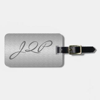 Metal cepillado etiqueta de equipaje