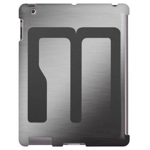 Metal cepillado monograma personalizado