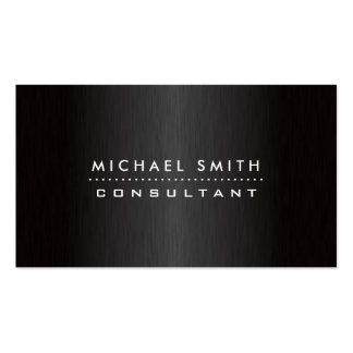 Metal cepillado negro moderno elegante profesional tarjeta de visita