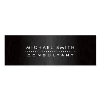 Metal cepillado negro moderno elegante profesional tarjetas de visita mini