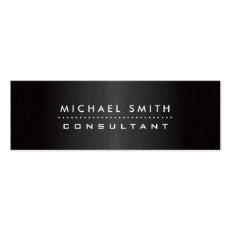 Metal cepillado negro moderno elegante profesional tarjetas de visita