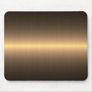 metal cepillado oro tapetes de ratones