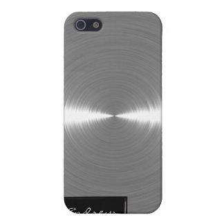 Metal cepillado plata iPhone4 iPhone 5 Funda