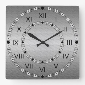 Metal cepillado relojes