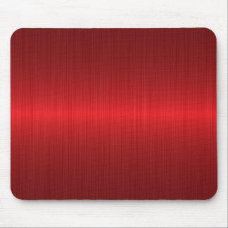 metal cepillado rojo alfombrillas de raton