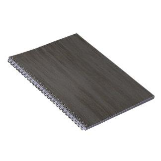 Metal cepillado sucio gastado libro de apuntes