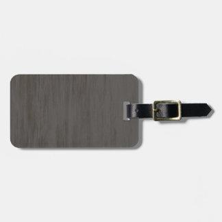 Metal cepillado sucio gastado etiqueta de maleta