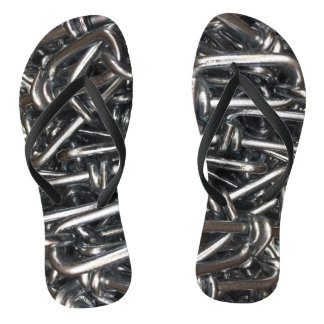 Metal Chain Link Iron Chains Abstract Photography Flip Flops
