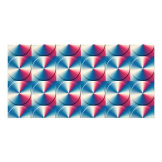 Metal circles pattern customized photo card