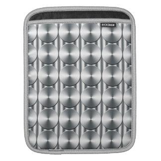 Metal circles pattern iPad sleeves