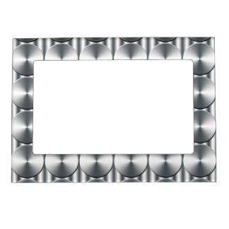 Metal circles pattern magnetic picture frame