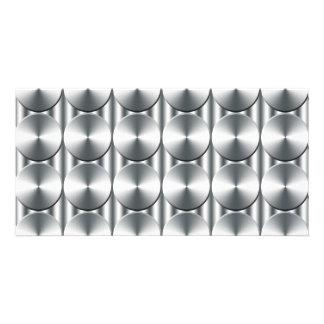 Metal circles pattern picture card