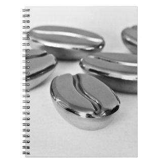 Metal Coffee Beans Notebook