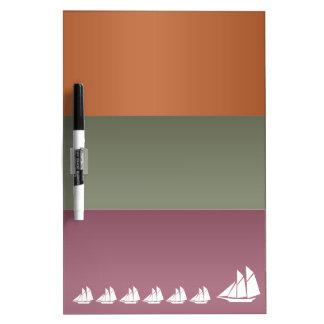 Metal Color Strips - Voyage Sail Vacation Journey Dry-Erase Board
