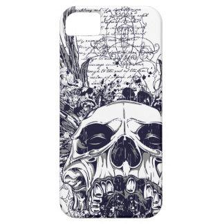 Metal con alas del gótico del caso del iPhone 5 iPhone 5 Carcasa