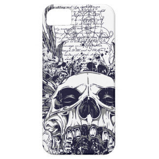 Metal con alas del gótico del caso del iPhone 5 Funda Para iPhone SE/5/5s