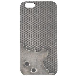 Metal con el fondo de los agujeros de bala funda clearly™ deflector para iPhone 6 plus de unc
