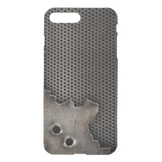 Metal con el fondo de los agujeros de bala fundas para iPhone 7 plus