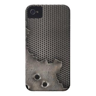 Metal con el fondo de los agujeros de bala iPhone 4 carcasas