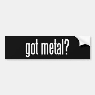 ¿Metal conseguido? Etiqueta De Parachoque