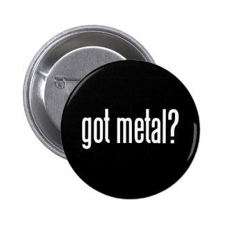 Metal conseguido pin redondo de 2 pulgadas