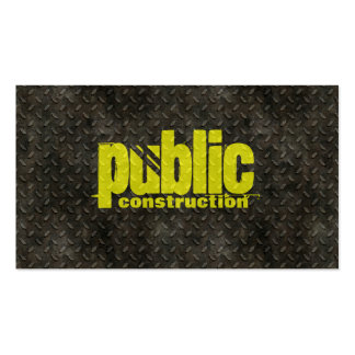 Browse the Construction Business Cards Collection and personalize by color, design, or style.