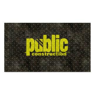 Metal Construction Welder Pattern Business Card