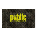 Metal Construction Welder Pattern Double-Sided Standard Business Cards (Pack Of 100)