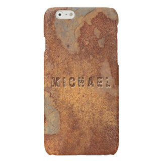 Metal Corroded - Personalized Rusty Metallic Look Glossy iPhone 6 Case