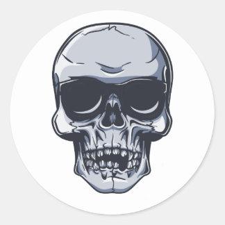 Metal cráneo calavera metal skull pegatina redonda