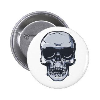 Metal cráneo calavera metal skull pin redondo de 2 pulgadas