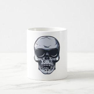 Metal cráneo calavera metal skull taza básica blanca