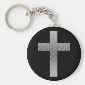 metal cross keychains