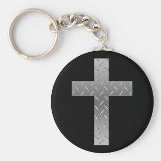 metal cross keychain